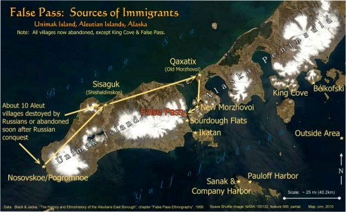 False Pass, Alaska: Sources of Immigration