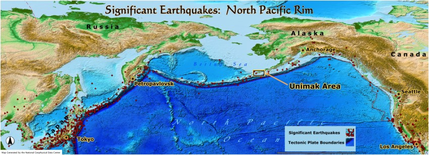 Significant Earthquakes:  North Pacific Rim