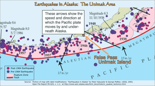 Earthquakes in the Unimak Area, Alaska