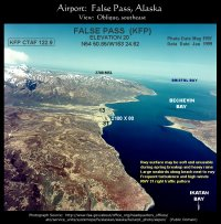 Airport, False Pass, Alaska: Southeast approach
