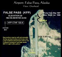 Airport, False Pass, Alaska: Overhead view
