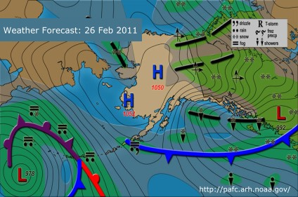 Weather Forecast, Alaska, 27 Feb 2011
