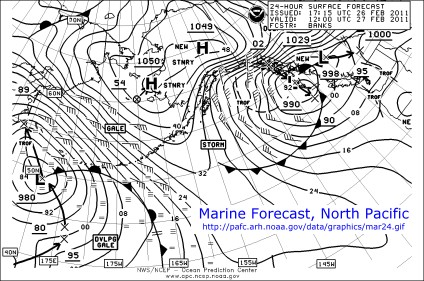 Marine Forecast, 27 Feb 2011