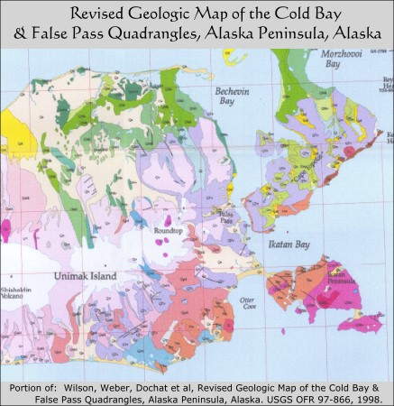 Geologic Map of False Pass & Cold Bay Quads, Alaska