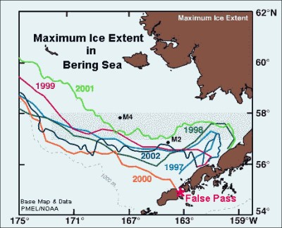 Ice Extent in the Bering Sea, Alaska