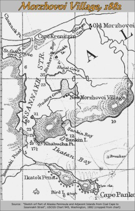 1882 map of (New) Morzhovoi Village