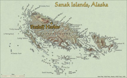 Pauloff Harbor, Sanak Island, Alaska:  Location