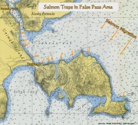 Salmon Traps in False Pass, Alaska area