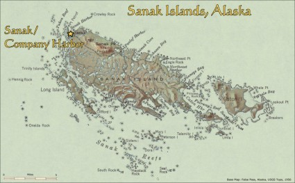 Sanak/Company Harbor, Alaska, location map