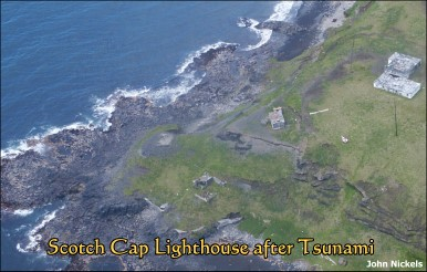 Scotch Cap light area after tsunami