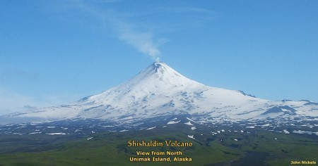Shishaldin Volcano, Unimak Island, Alaska: View from north
