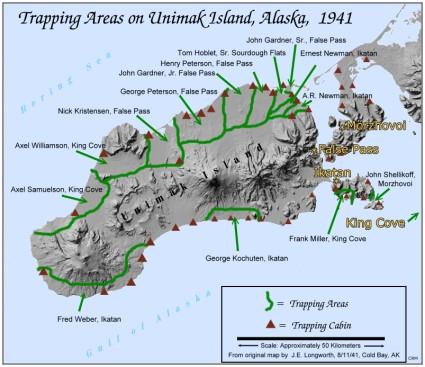 Fox Island Alaska Map.Trapping In The Unimak Area