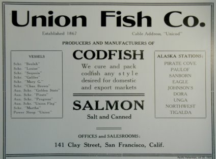 Union Fish Co., advertisement