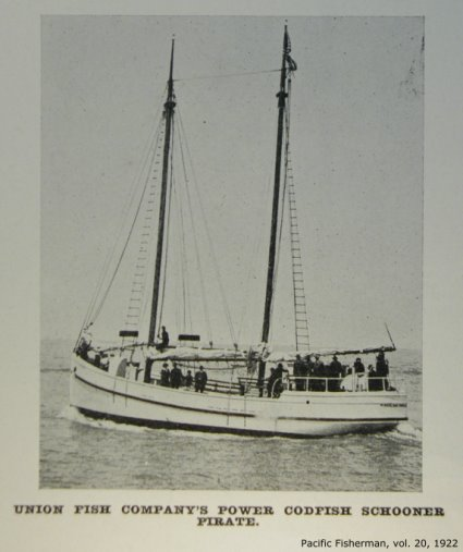 Union Codfish Company's Power Codfish Schooner, Pirate
