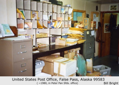 United States Post Office, False Pass, Alaska, ca. 1980