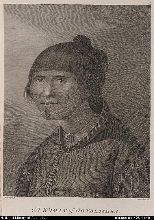 Woman from Oonalashka, Capt. Cook's voyage